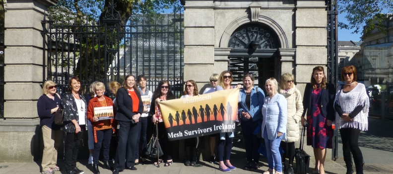 Mesh Survivors Ireland- Suspension of Transvaginal Mesh